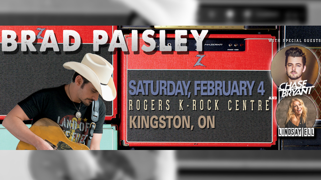 Brad Paisley Live at Rogers K-Rock Centre! - Country 93 5