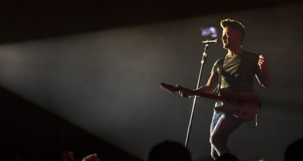 Mandatory Credit: Photo by Michael Hurcomb/REX/Shutterstock (8269267b) Chase Bryant Chase Bryant in concert, Peterborough, Ontario, Canada - 03 Feb 2017